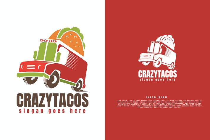 Thumbnail for Tacos Truck Logo Template