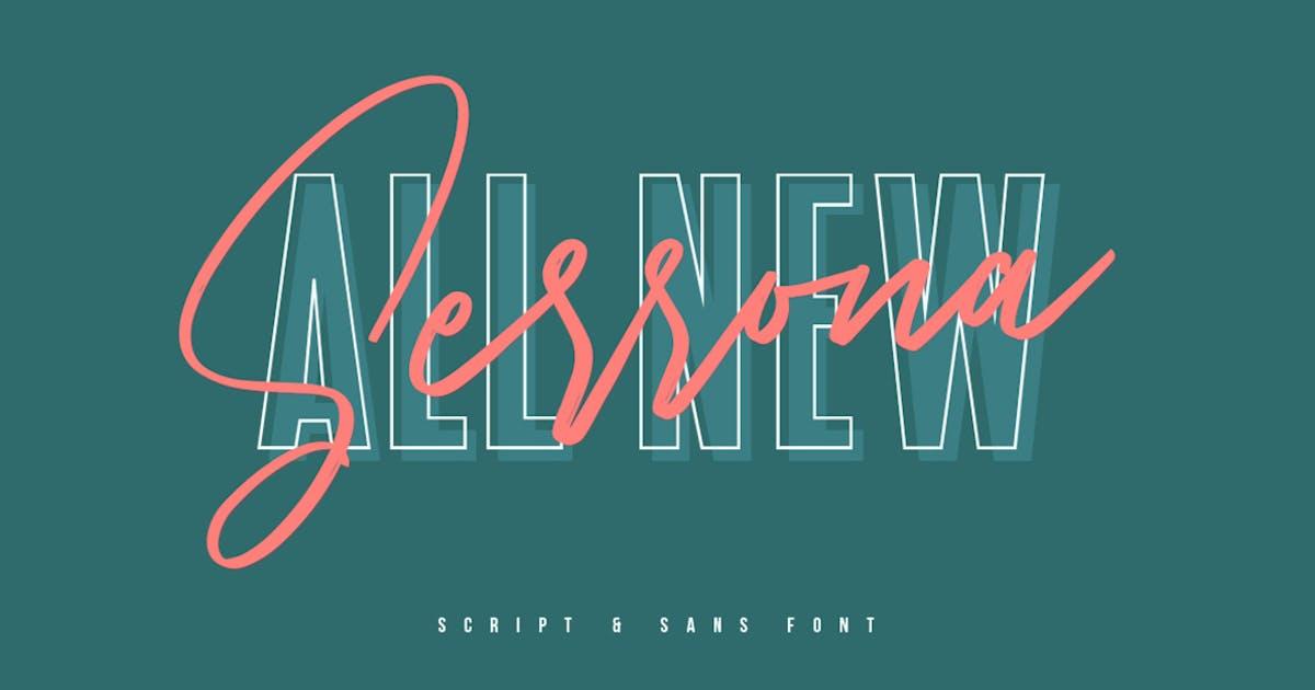 Download Serrona Script Font Duo by maulanacreative