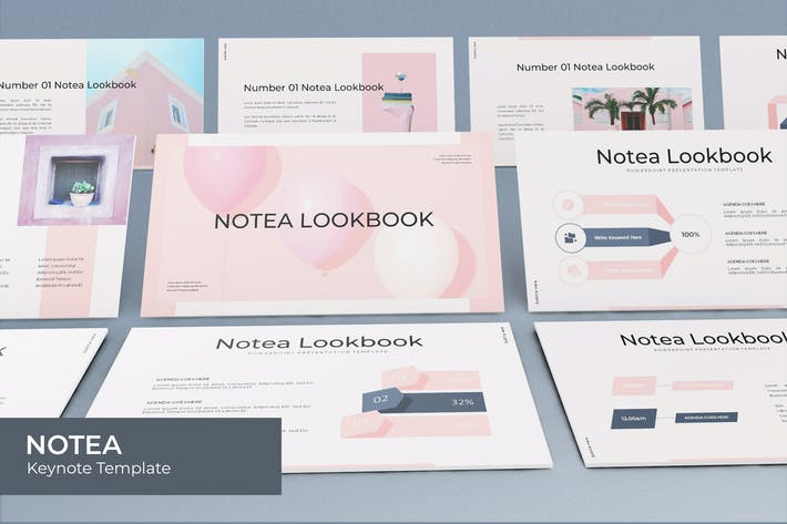 Thumbnail for Notea - Plantilla de Keynote