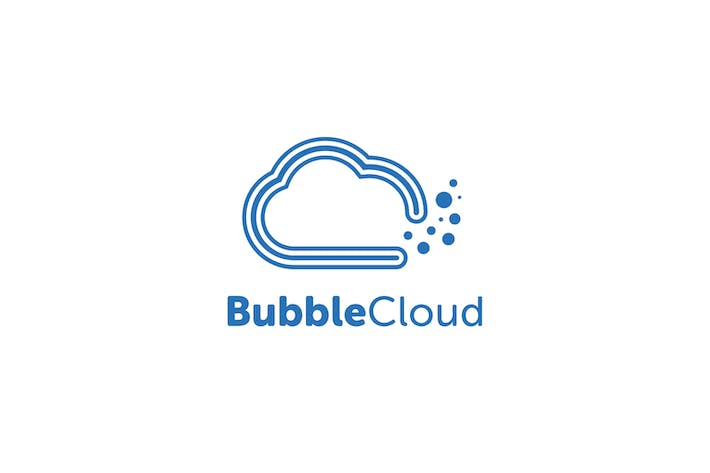 Thumbnail for Bubble Cloud Logo Template