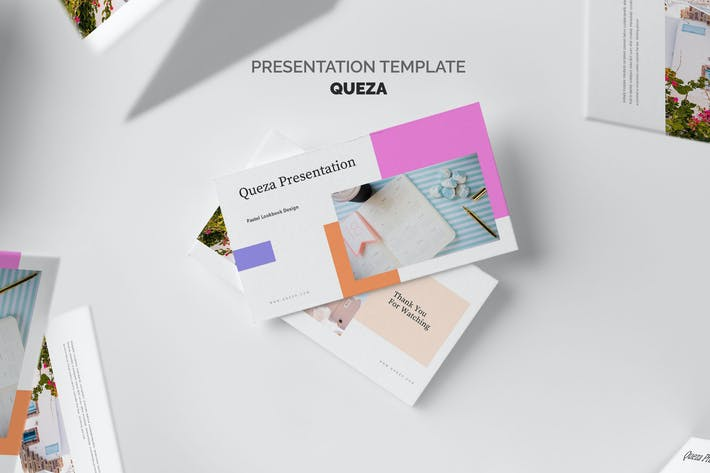 Thumbnail for Queza : Pastel Color Sales Marketing Keynote