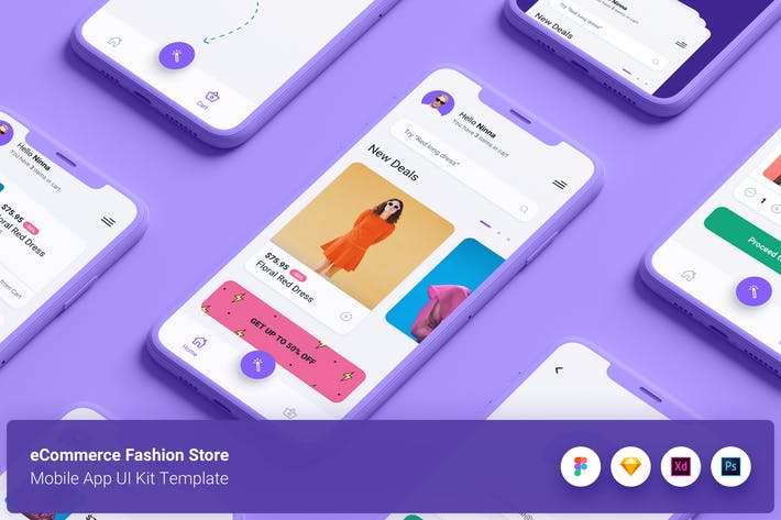 Thumbnail for eCommerce Fashion Store App UI Kit Template