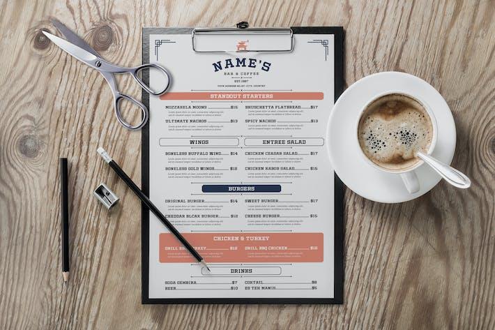 Thumbnail for Vintage Bar & Coffee Menu