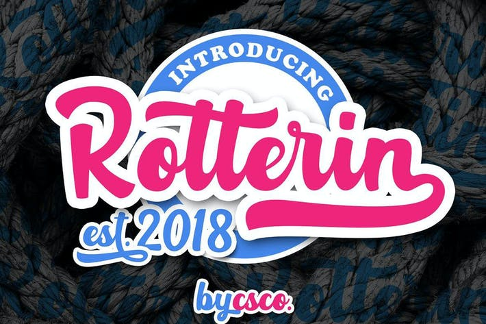 Thumbnail for Rotterin Script - Layered Font