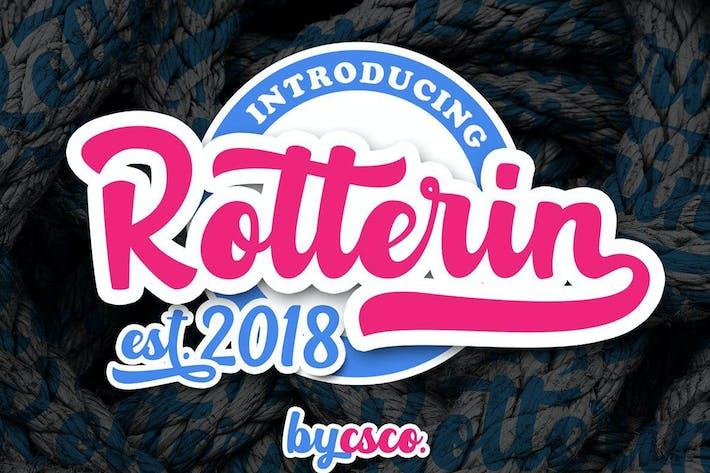 Thumbnail for Rotterin Script - Fuente en capas
