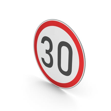 Road Sign Speed Limit 30