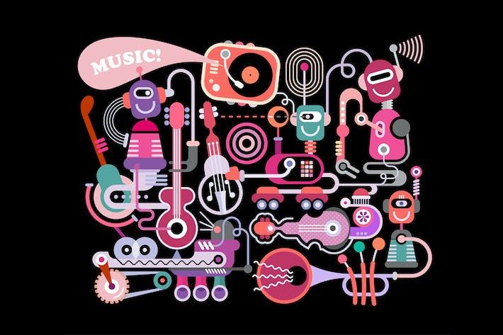 Thumbnail for Music Concert Vector Illustration