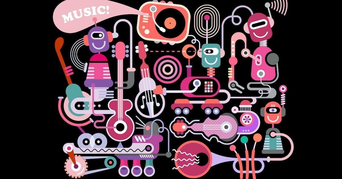 Music Concert Vector Illustration by danjazzia