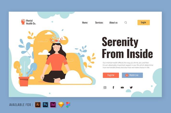 Thumbnail for Women Meditate - Web Illustration