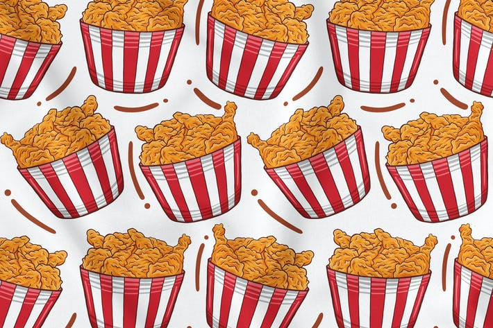 Thumbnail for Fried Chicken Seamless Pattern
