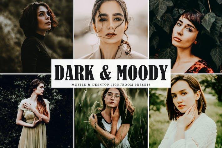 Темные и Moody для мобильных и настольных Пресеты Lightroom