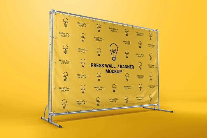 Thumbnail for Press Wall / Stand Banner Mockup