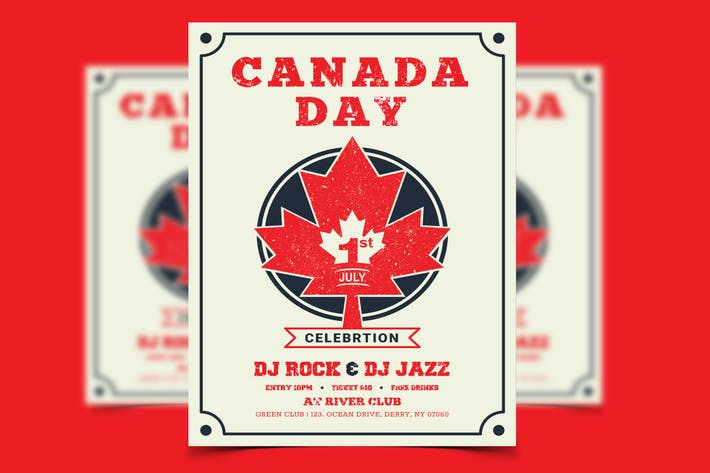 Thumbnail for Canada Day Flyer/Poster Template