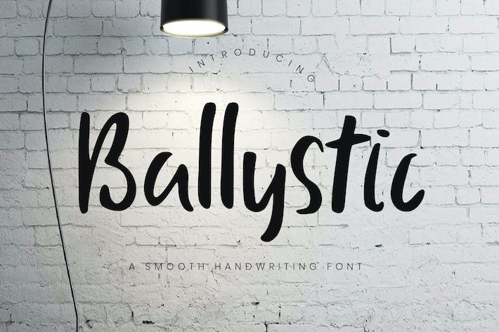Thumbnail for Ballystic Handwriting Typeface