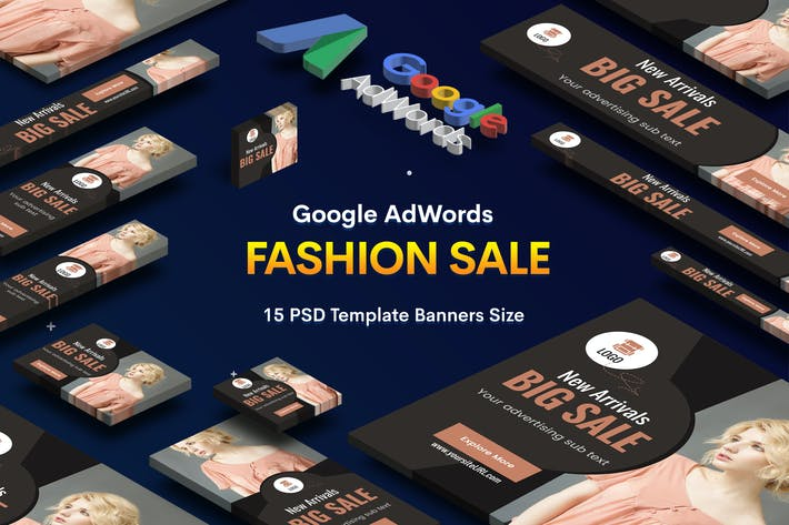 Thumbnail for Fashion Sale Banners Ad