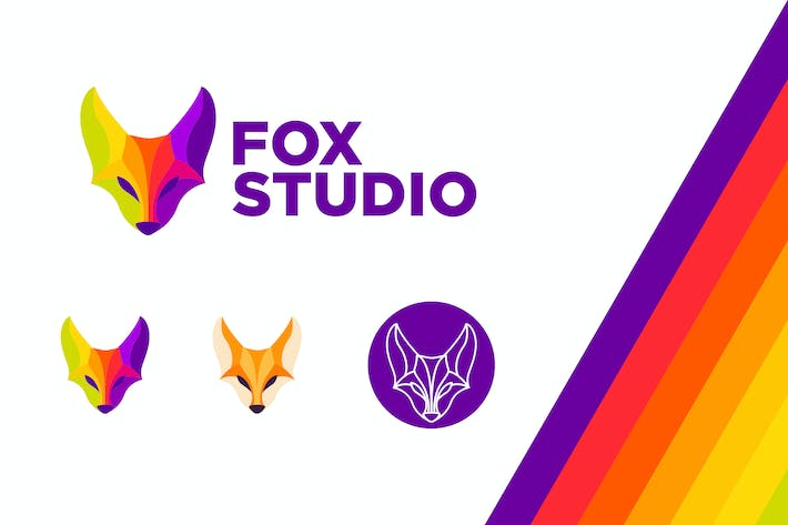 Thumbnail for Fox Studio Modern Vivid Color Logo