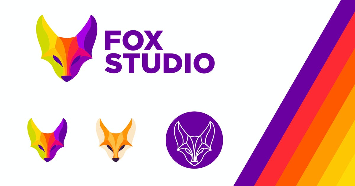 Download Fox Studio Modern Vivid Color Logo by Suhandi