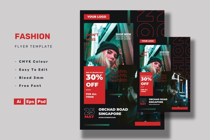 Thumbnail for Fashion Flyer Template