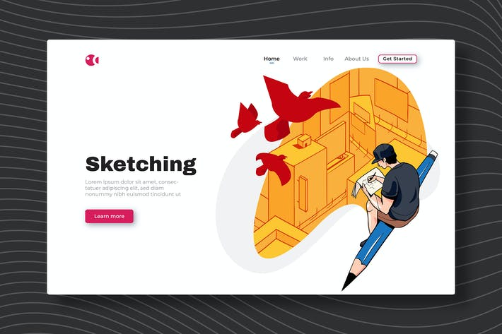 Sketching - Landing Page