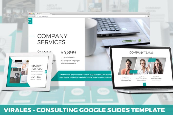 Thumbnail for Virales - Consulting Google Slides Template