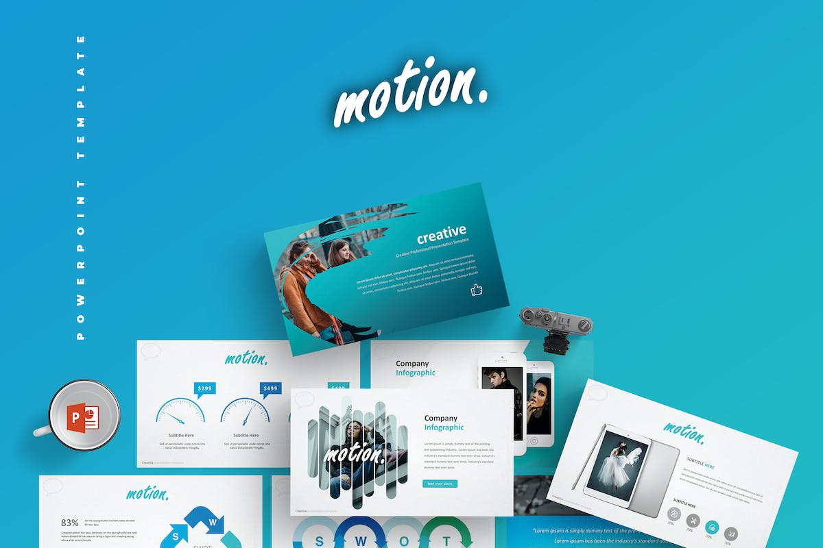 Motion Powerpoint Template By Aqrstudio On Envato Elements