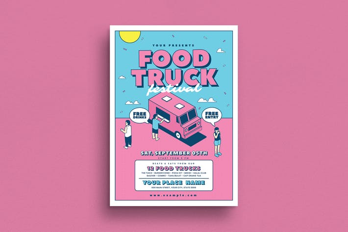 Thumbnail for Food Truck Event Flyer