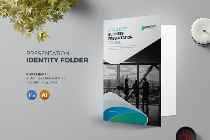 Thumbnail for Presentation Folder Template 02
