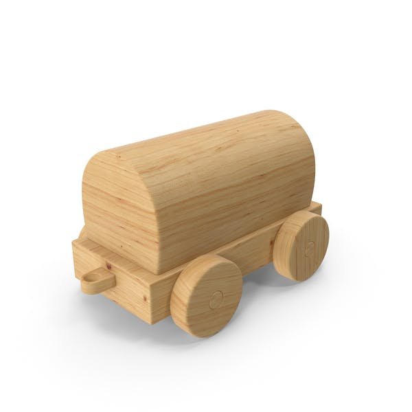 Wooden Toy Train Car