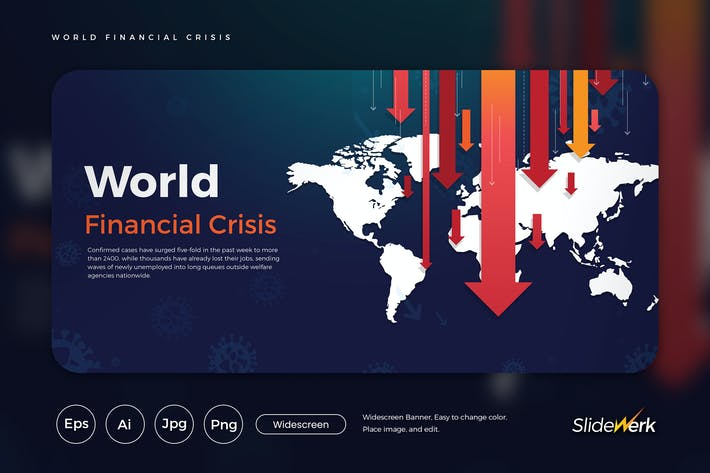 Thumbnail for Ilustración Vector de crisis financiera mundial