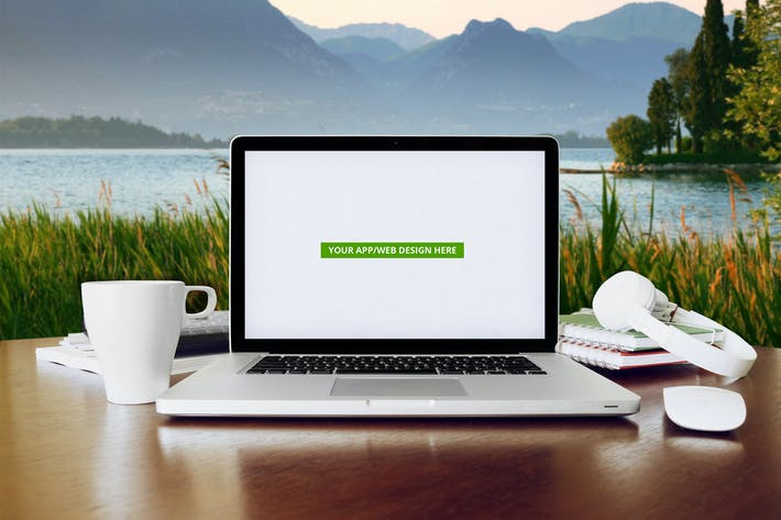laptop display web app mock up by itscroma on envato elements