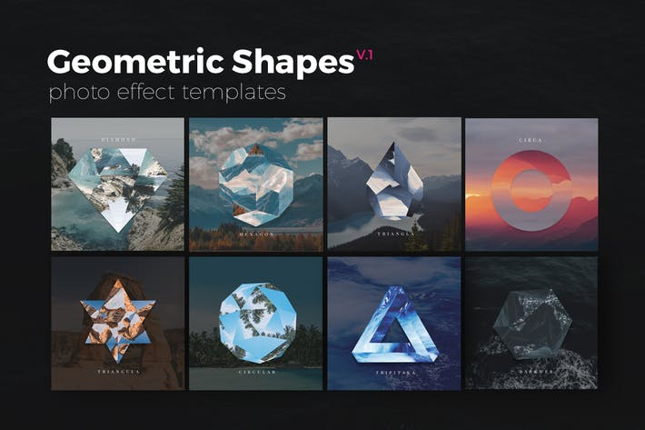 Thumbnail for Geometric Shapes Photo Templates v1
