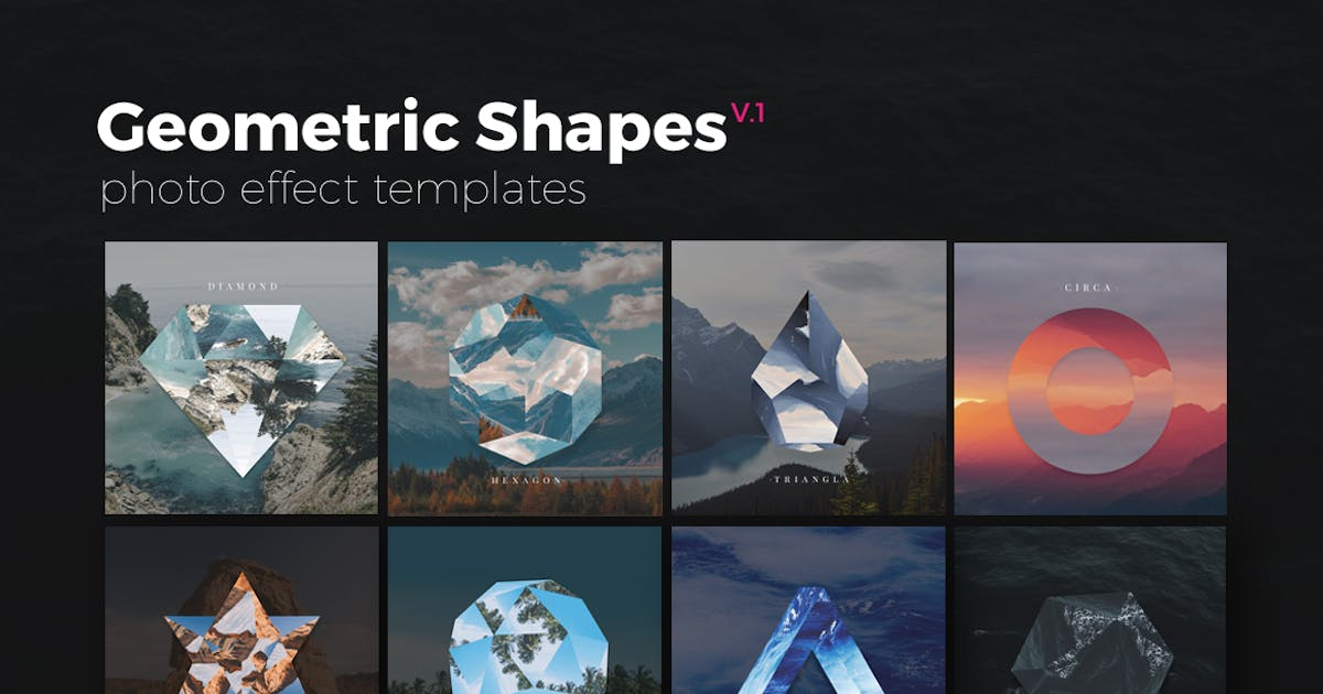 Download Geometric Shapes Photo Templates v1 by micromove