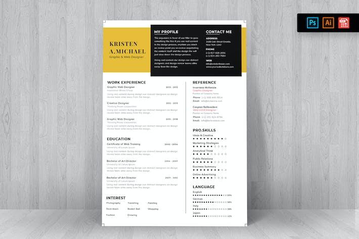 Thumbnail for Resume CV Template-94