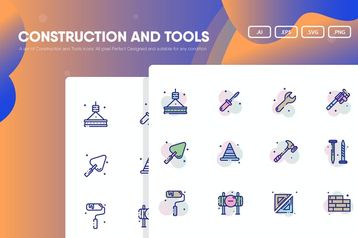 Thumbnail for Construction and Tools Icon Pack
