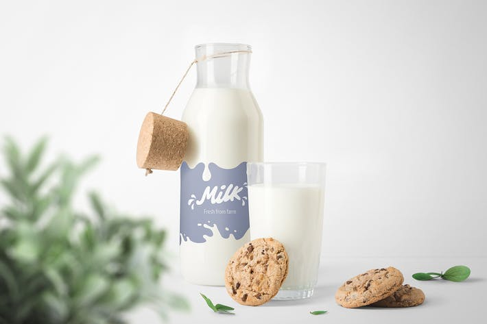 Thumbnail for Milk Bottles Mockups
