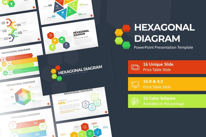 Hexagonal Infographic Presentation Template