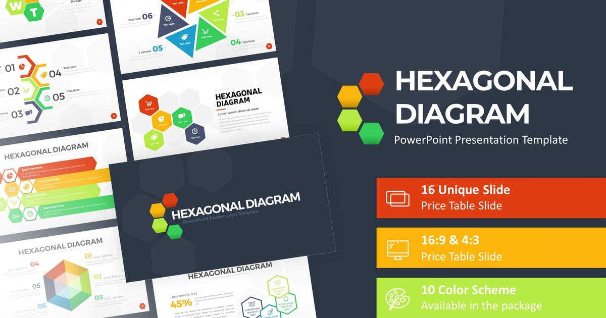 Download Hexagonal Infographic Presentation Template by RRgraph