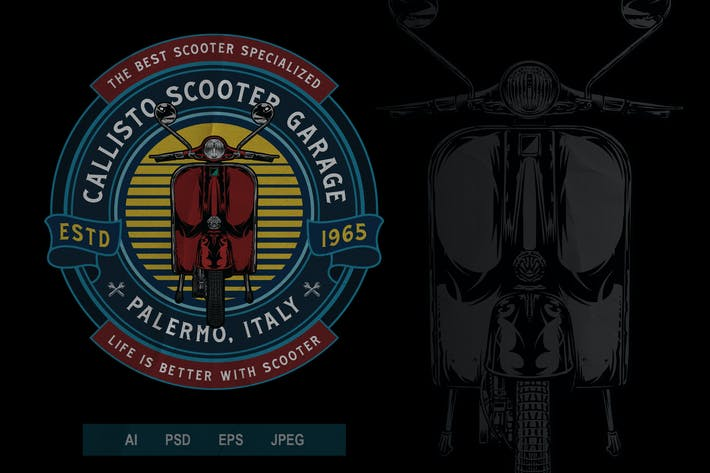 Thumbnail for Vintage Scooter Badge Logo Volume 1 No. 2
