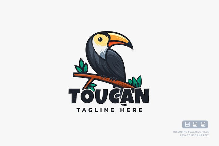 Cover Image For Toucan - Logo Design Template