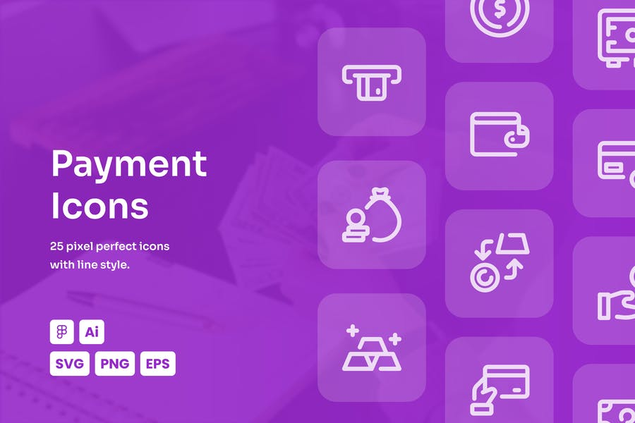 Payment Dashed Line Icons