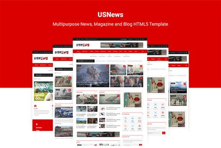 USNews   News, Magazine and Blog HTML5 Template