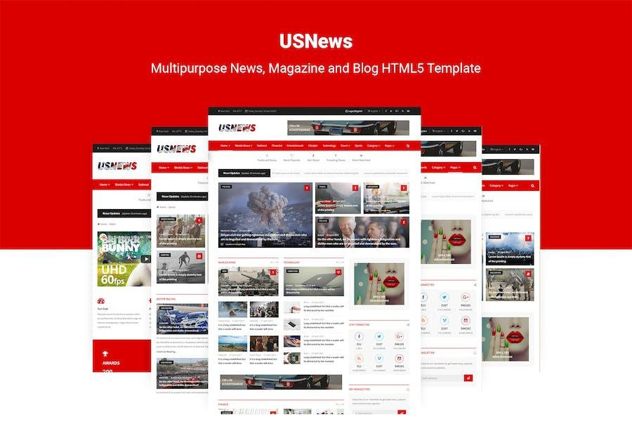 USNews | News, Magazine and Blog HTML5 Template
