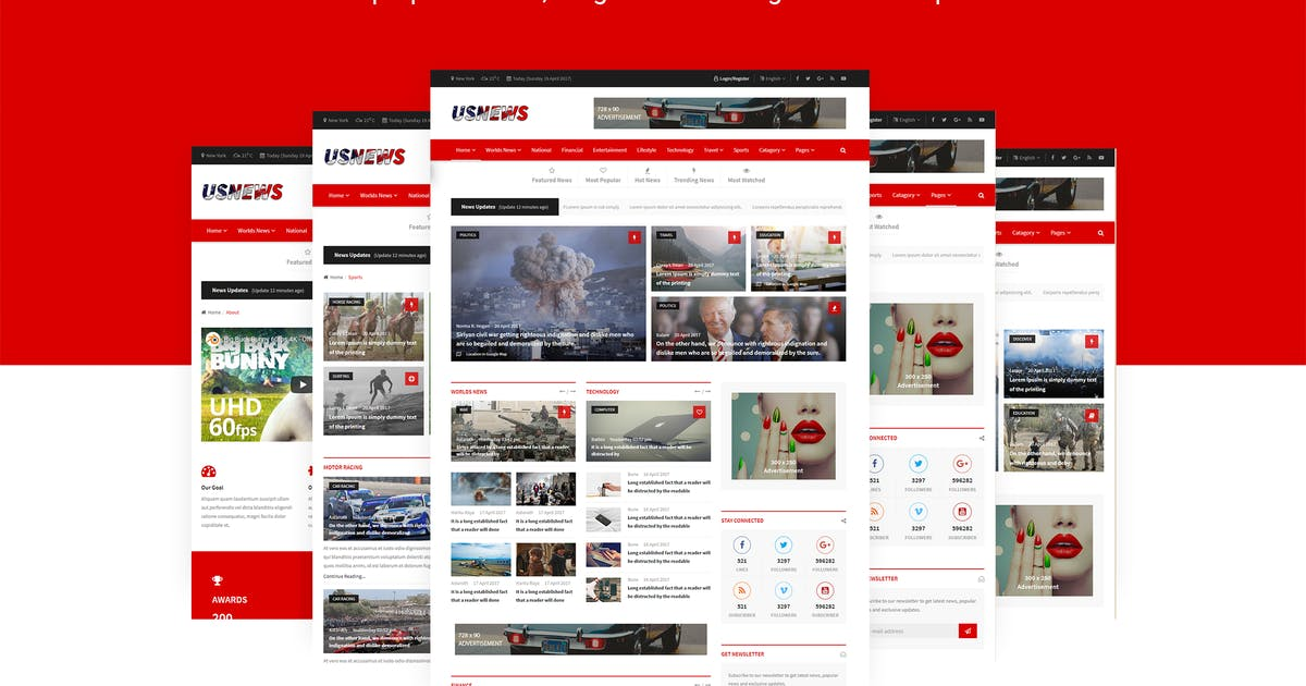 Download USNews | News, Magazine and Blog HTML5 Template by themelooks