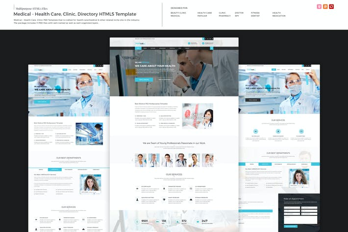 Cover Image For Medical - Health Care, Clinic HTML5 Template