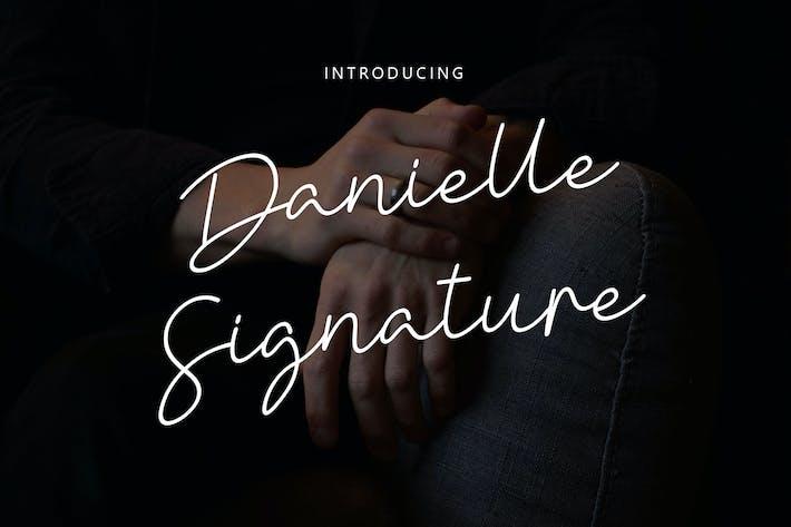 Thumbnail for Danielle Signature - Handwritten font YR