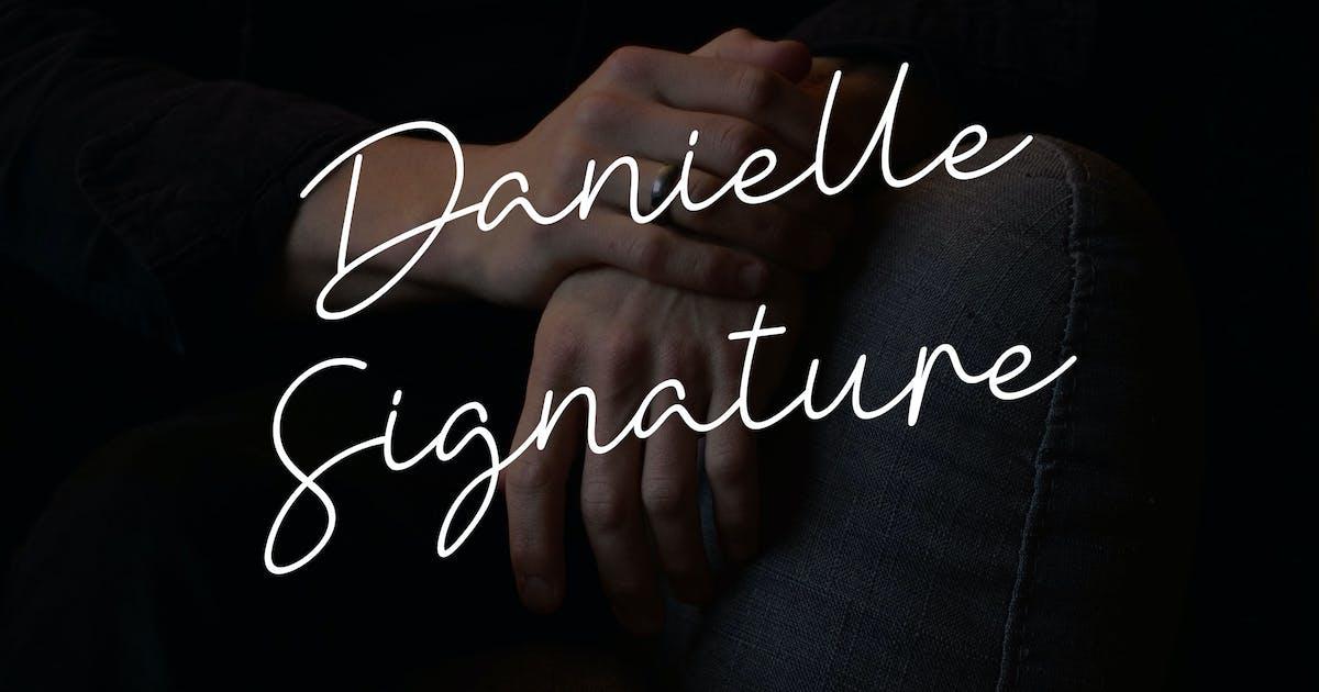Download Danielle Signature - Handwritten font YR by Rometheme