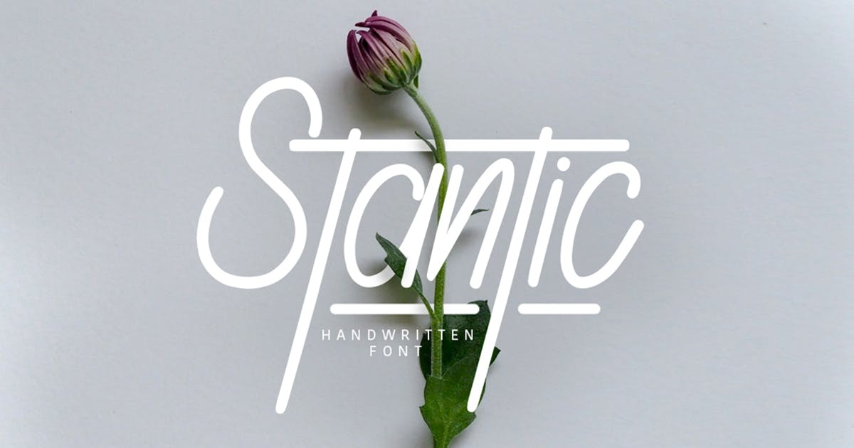 Download Stantic Typeface by maulanacreative