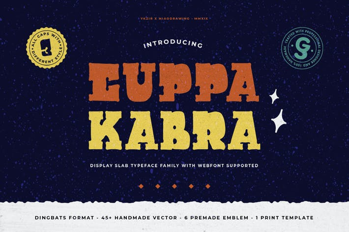 Thumbnail for Cuppakabra Typeface