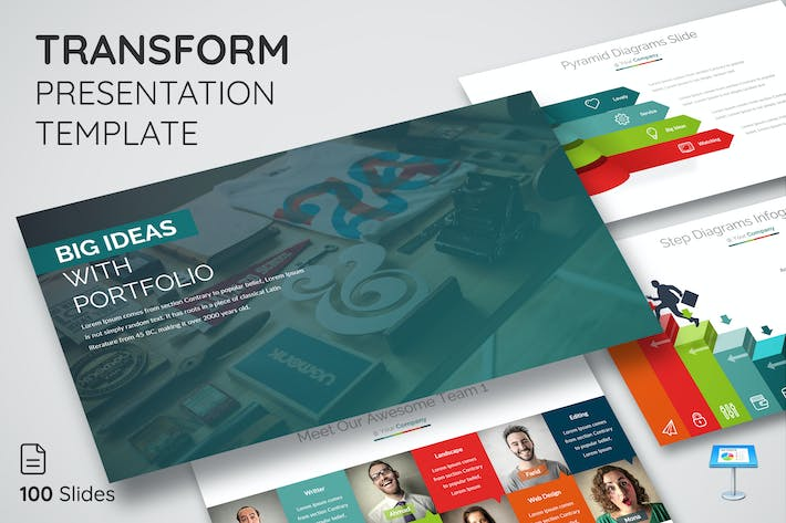 Thumbnail for Transform - Keynote Presentation Template
