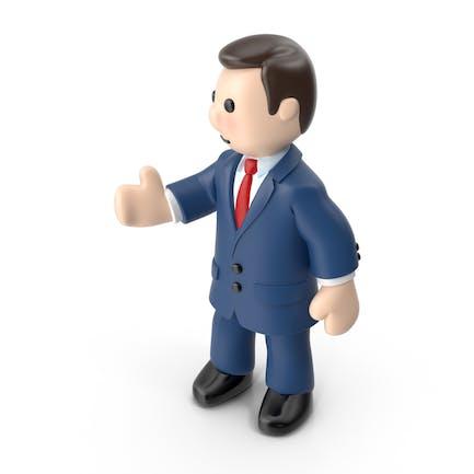 Hombre de negocios de dibujos animados
